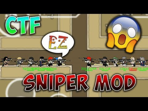 Mini Militia 6vs6 Sniper Mod CTF GAMEPLAY !! Capture The Flag !!| Doodle Army 2: Mini Militia #57