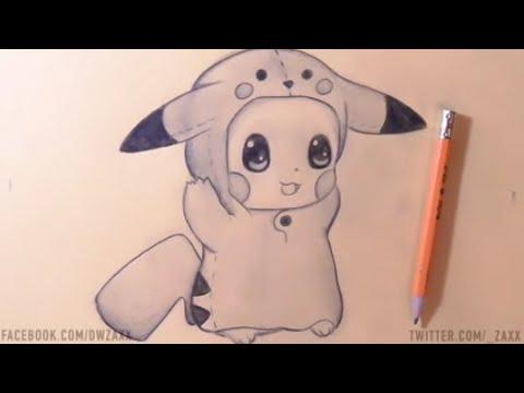 Comment desiner pikachu youtube - Pikachu dessin anime ...