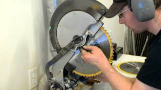 Dewalt Miter Chop Saw Blade Change (diy)