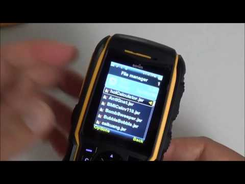 Sonim XP3300 Force cellphone GPS camera Java Apps test