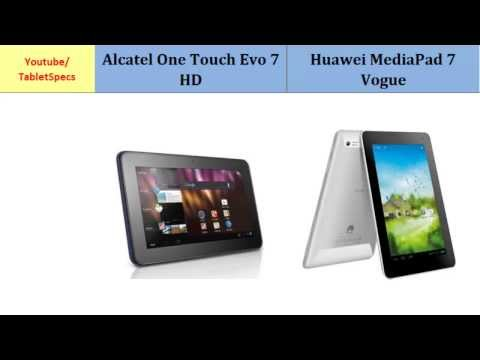 Alcatel One Touch Evo 7 HD versus Huawei MediaPad 7 Vogue, all specs