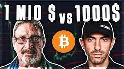 1.000.000$ vs 1.000$ BITCOIN PREIS VORHERSAGE! Kryptowährungen deutsch