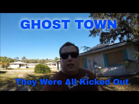 Abandoned Neighborhood Hillside Estates Brooksville Fl, Entire community vanished
