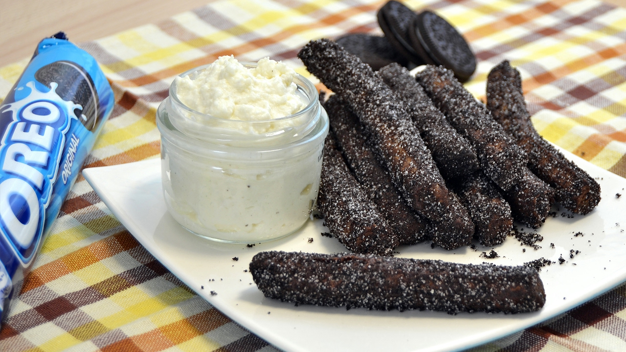 How To Make Oreo Churros Easy Homemade Oreo Churros Recipe Youtube