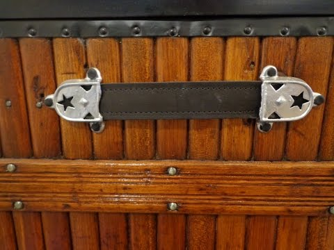 How to replace leather handles on a trunk - Part 2 - Antique Trunks
