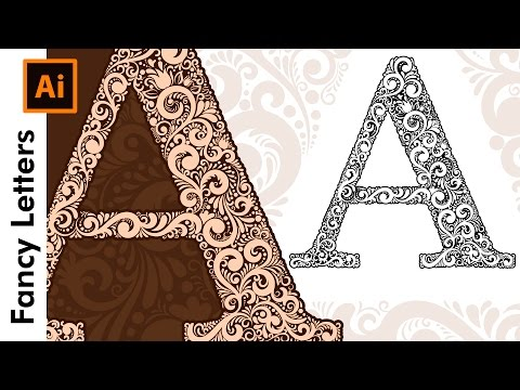How To Create Custom Fancy Type Letters - A - in Adobe Illustrator