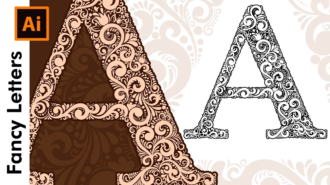 how to create custom fancy type letters a in adobe illustrator