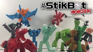 SPOOKY UNBOXING! Stikbot Monsters Unboxing and Review!