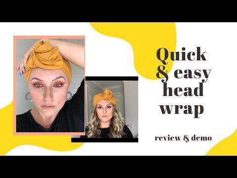 EASIEST HEAD WRAP TUTORIAL EVER || ALOPECIA TIPS || CELINE MARTINE thumbnail