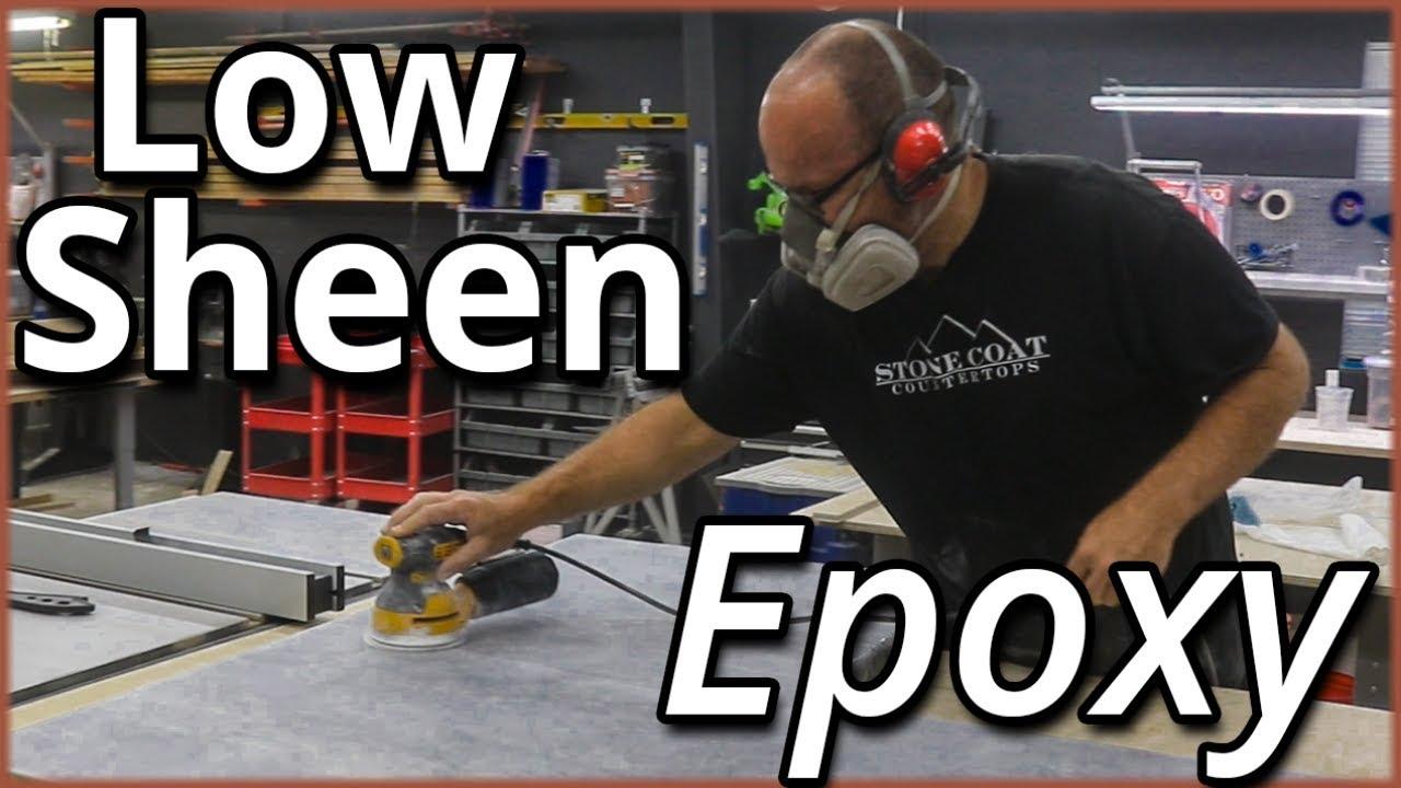 How to Hone Stone Coat Countertop epoxy