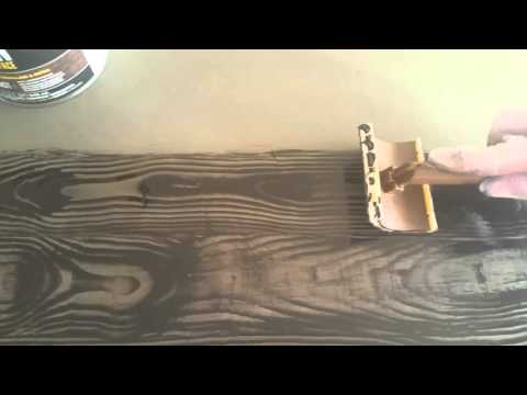 Wood Grain Effect with Stain and a Wood Grain Tool - Fake Wood Effect Chalk Paint