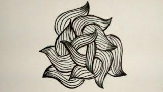 Zentangle pattern || simple doodle