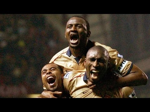 Patrick Vieira vs Manchester United  Away 2001/02 Title win at Old Trafford