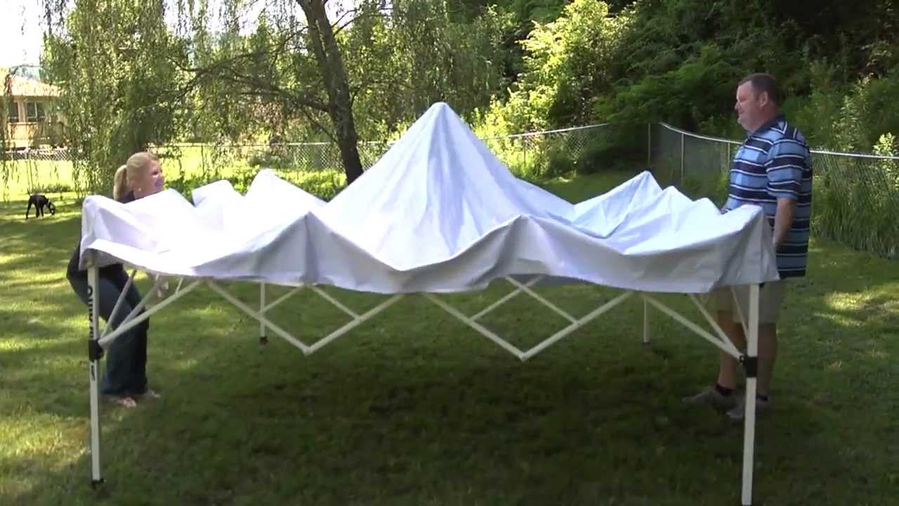 & Quik Shade - Commercial C100 Instant Canopy - YouTube