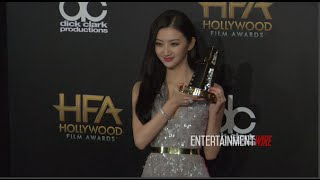 Chinese actress Jing Tian arrives at 18th Annual Hollywood Film Awards Press Room