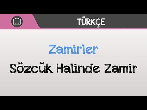 Zamirler - Sözcük Halinde Zamir