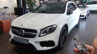 2018 Mercedes AMG GLA 45 4MATIC Full Review Start Up Interior Exterior