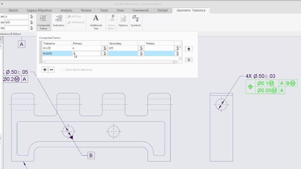 New To Creo 40 Improved Composite Geometric Tolerances Gtols