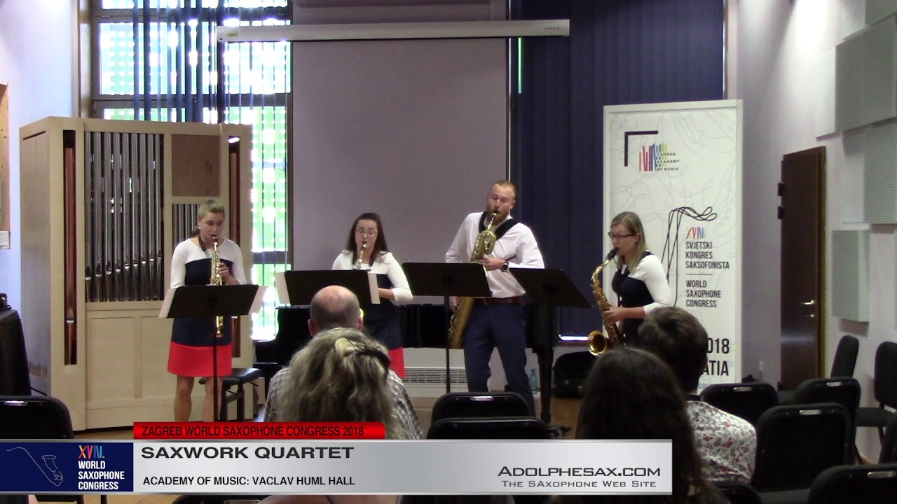 Slavonic Dances 1 & 7 by Antonin Dvorak    Saxwork Quartet   XVIII World Sax Congress 2018 #adolphes