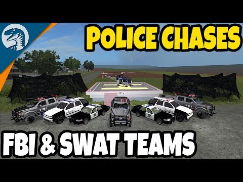 NEW: POLICE, FBI, SWAT TEAMS, HIGH SPEED PURSUITS | Farming Simulator 17 Multiplayer Gameplay