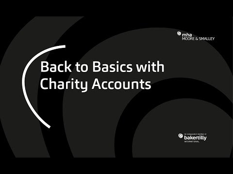 Back to Basics with Charity Accounts