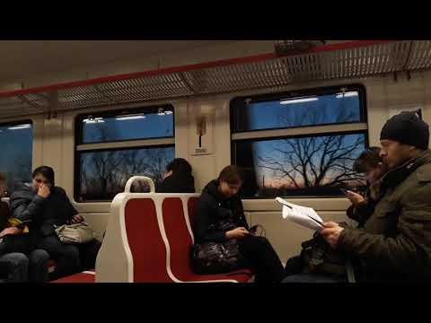 Вечерний заезд на пригородной электричке Санкт-Петербург Балтийская - Сиверская