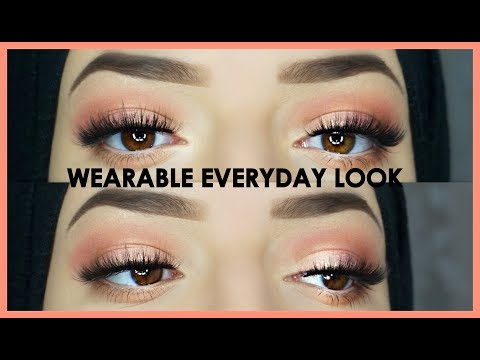 Wearable Everyday Eye Makeup Tutorial - Huda Beauty Palette - 동영상