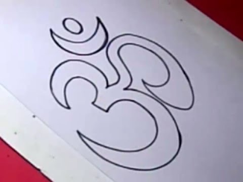 How To Draw Om Drawing Step By Step For Kids Youtube