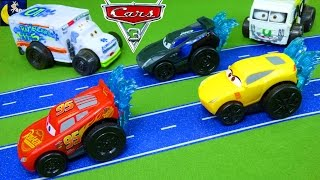 splash racers disney cars 3 toys jackson storm lightning mcqueen cruz ramirez pool water toys video