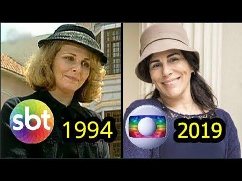 ÉRAMOS SEIS SBT E GLOBO COMPARAÇÃO - 1994 E 2019  BASTIDORES DA TV #01 ANTES E DEPOIS