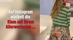 Heidi Klum zeigt ihren Po auf Instagram   Kleider-Panne nach 15-Stunden-Flug