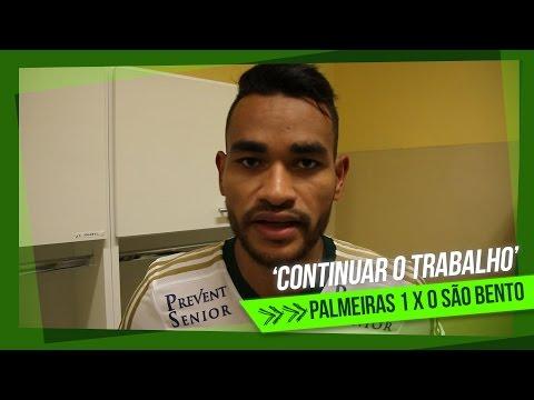 Jackson comemora estreia como titular do Palmeiras