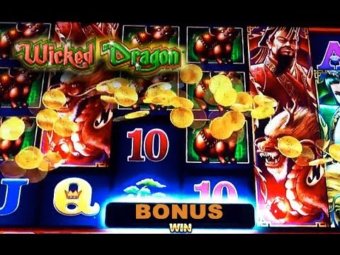 WMS - Wicked Dragon - Blade Game - Slot Machine Bonus - 동영상