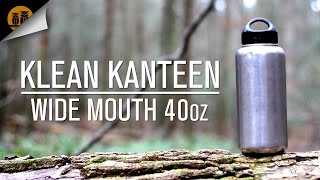 Klean Kanteen 18/8 Stainless Steel 40oz Water Bottle Review [Wide Mouth]