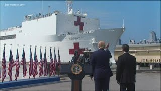 President Trump sends off USNS Comfort as it heads to New York to help with COVID-19 outbreak