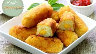 Cheese Stuffed Potato Croquettes