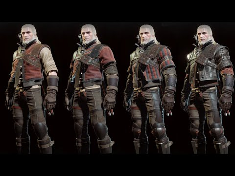 The Witcher 3 Wild Hunt - Wolf Witcher Gear Set Showcase (Normal, Enhanced, Superior, Mastercrafted)