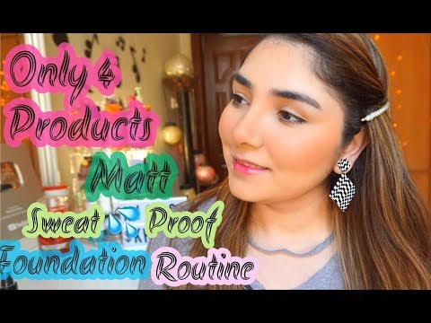 Easy 4- Step Matt/Sweat Proof Makeup Tutorial || Make Your Foundation Long Lasting This Summer 🌞 thumbnail