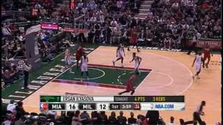 Lebron sick spin move at Milwaukee