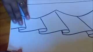 Como riscar barrado no tecido com molde espelhado