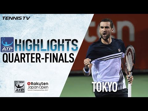 Highlights: Cilic, Goffin Surge on Friday Into Tokyo SFs 2017