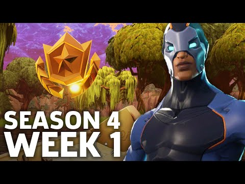 Fortnite: Battle Royale - Season 4 Week 1 Challenge Locations