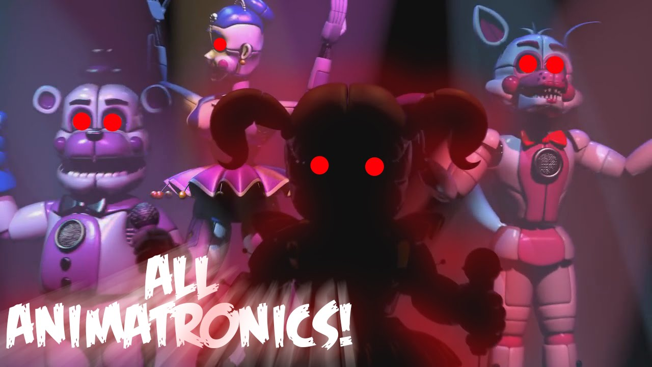 Download Five Nights at Freddy's Sister Location ALL ANIMATRONICS GAMEPLAY (FNAF Sister Location Animatronic)