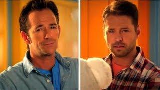 Beverly Hills, 90210 Cast Reunites in Old Navy Ads - Dylan or Brandon?
