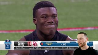 Rugby Player Reacts To The 2020 Nfl Scouting Combine Linebackers Run The 40 Yard Dash!
