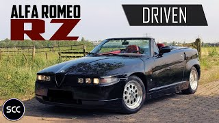 ALFA Romeo RZ ES30 Zagato 1995 - Test drive in top gear - V6 Engine sounds! |  SCC TV