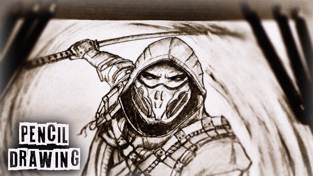 Pencil Drawing Scorpion Mortal Kombat 11 Mk11 Youtube