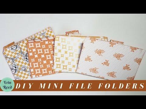 DIY Mini Decorative File Folders from Scrapbook Paper