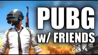 PUBG w/ Friends - First Desert Win!