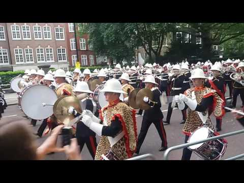 Massed Bands of HM Royal Marines beating retreat 25/5/16